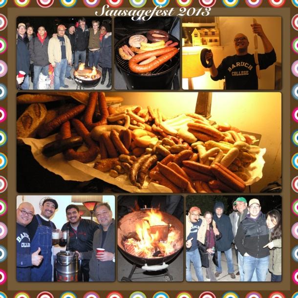 #sausagefest2013 the gang,cigar,beer