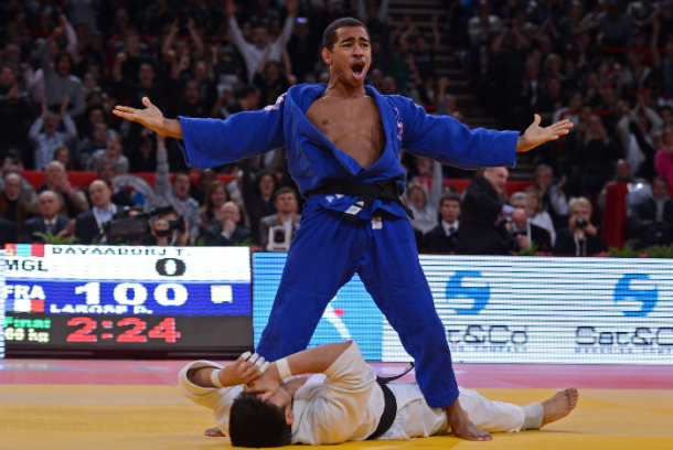 larose Celebrates win Paris Grand Slam 2013