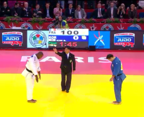 Riner winner v Kim 2013 Ippon PARIS GRAND SLAM 2013