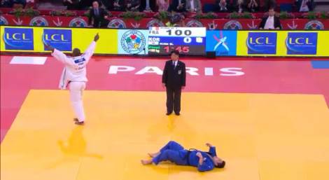 TEDDY RINER V Kim SUNG-MIN uchimata 2013 IPPON WINNER PARIS GRAND SLAM 2013