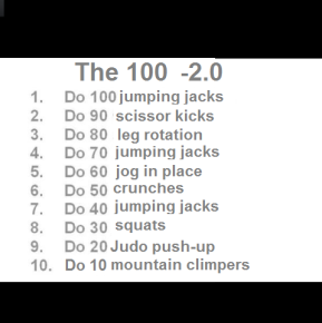 """Workout: """"The 100""""2.0"""
