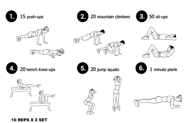 Weekend 2 Set Workout